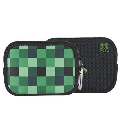Pochette créative à Pixel PIXIE CREW carré vert /noir PXA-08-04