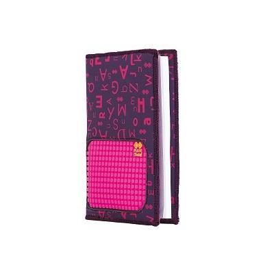 Bloc note créatif avec étui Alphabet violet PXN-07