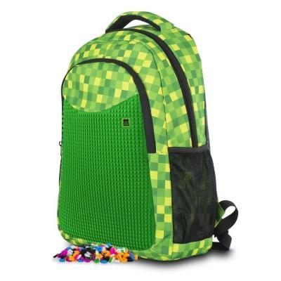 Sac à dos scolaire créatif à Pixel Mincraft cube vert PXB-16-08