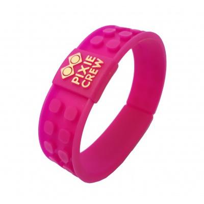 Bracelet créatif à Pixel fushia Hello Kitty