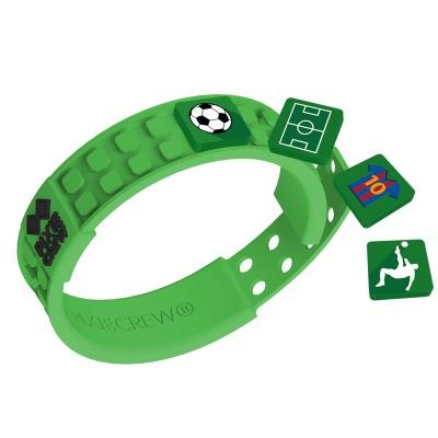 Bracelet créatif à Pixel vert - Football