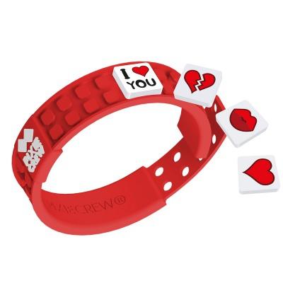 Bracelet créatif à Pixel rouge - Love