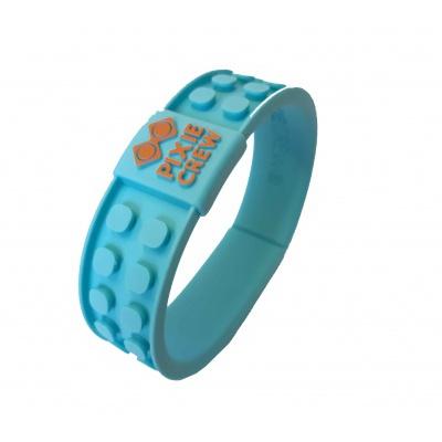 Bracelet créatif à Pixel turquoise - face