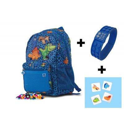 Sac à dos loisir créatif pour enfant à Pixel Dino PXB-18-90 Bracelet offert